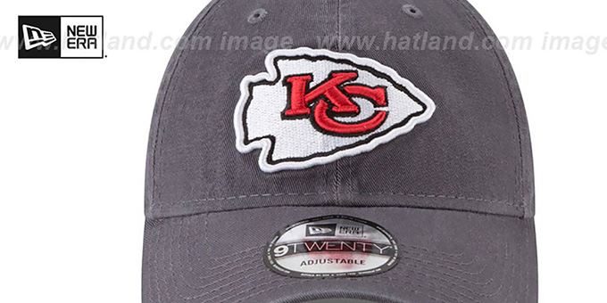 Chiefs 'CORE-CLASSIC STRAPBACK' Charcoal Hat by New Era