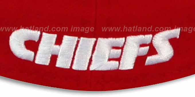Chiefs 'NFL 2T-TEAM-BASIC' Red-Black Fitted Hat by New Era