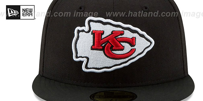 Chiefs 'NFL TEAM-BASIC' Black Fitted Hat by New Era