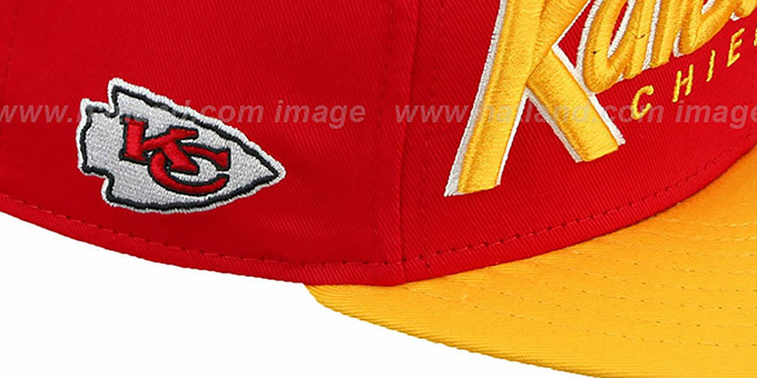 Chiefs 'SNAP-IT-BACK SNAPBACK' Red-Gold Hat by New Era