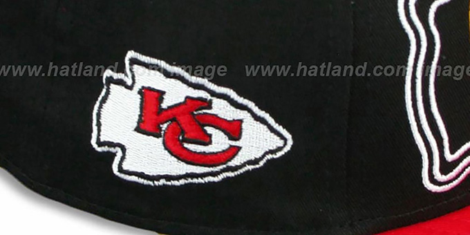 Chiefs 'THROUGH SNAPBACK' Black-Red Hat by New Era