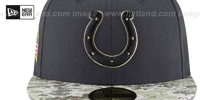 Colts '2016 SALUTE-TO-SERVICE' Grey-Desert Fitted Hat by New Era