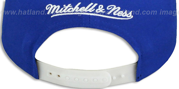 Colts '2T XL-LOGO SNAPBACK' Royal-White Adjustable Hat by Mitchell & Ness