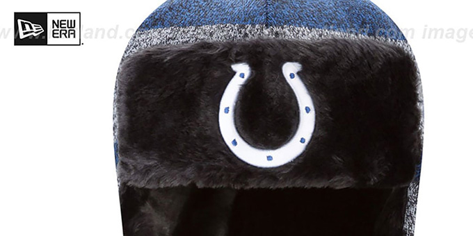 Indianapolis Colts FROSTWORK TRAPPER Royal Knit Hat by New Era