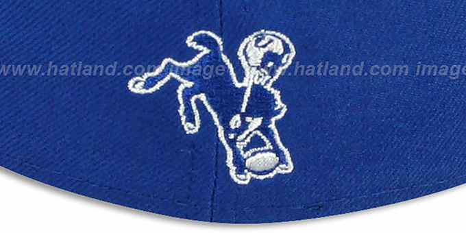 Colts 'NFL 2T THROWBACK TEAM-BASIC' Royal-Grey Fitted Hat by New Era