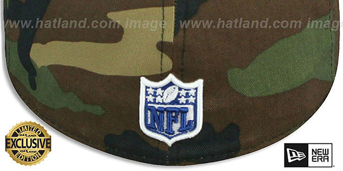Colts 'NFL TEAM-BASIC' Army Camo Fitted Hat by New Era