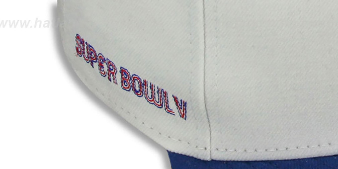 Colts 'SUPER BOWL V' White-Royal Fitted Hat by New Era
