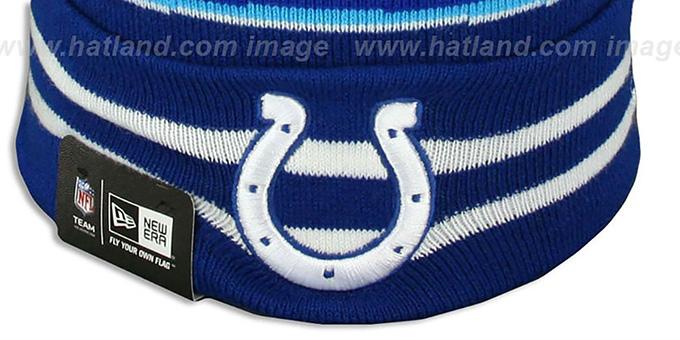 bc5a2d262c0 ... Colts  SUPER BOWL XLI  Royal Knit Beanie Hat by New Era ...