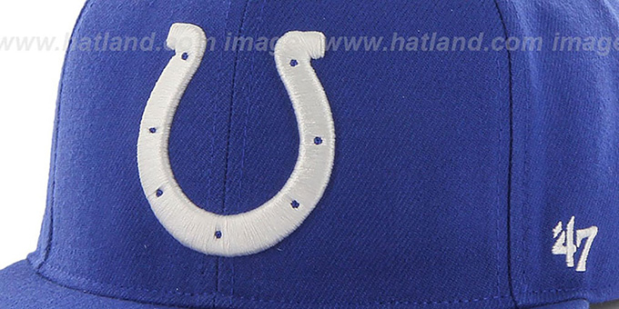 Colts 'SUPER-SHOT STRAPBACK' Royal Hat by Twins 47 Brand