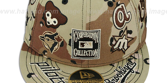 Cooperstown 'DESERT STORM ALL-OVER' Fitted Hat by New Era
