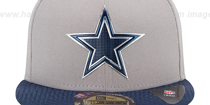 timeless design 3defe 86192 ... Cowboys  2015 NFL DRAFT  Grey-Navy Fitted Hat by New Era ...