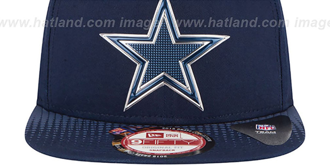 Dallas Cowboys 2015 NFL DRAFT SNAPBACK Navy Hat by New Era 5bf3704d8d2