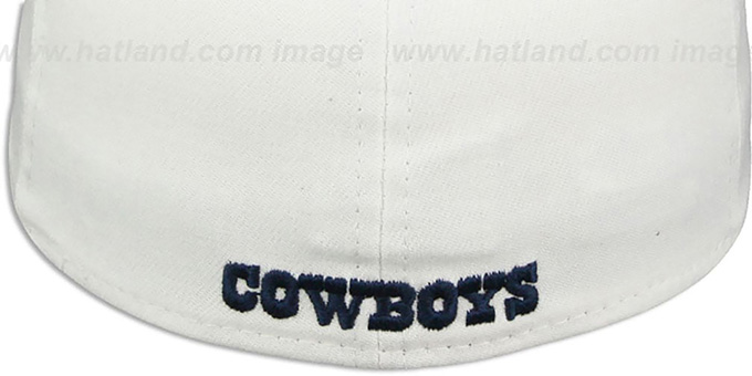Cowboys '2015 NFL STADIUM FLEX' White-Navy Hat by New Era