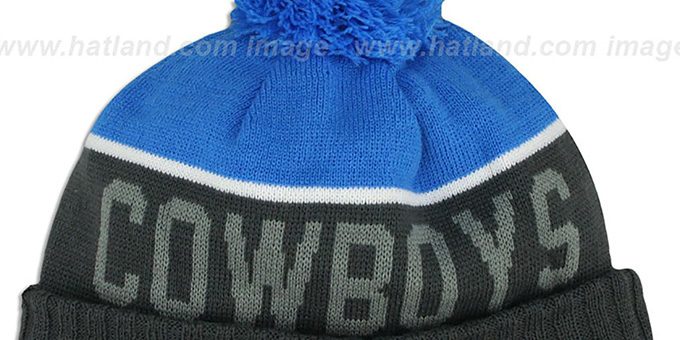 Cowboys '2015 STADIUM' Charcoal-Blue Knit Beanie Hat by New Era