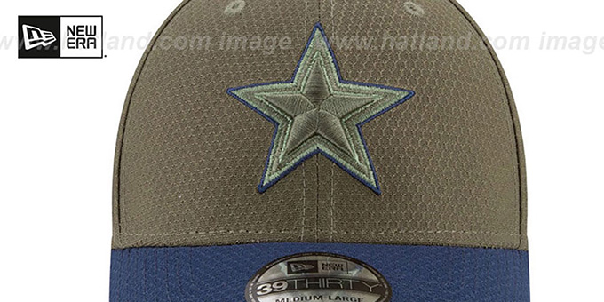 Cowboys '2017 SALUTE-TO-SERVICE FLEX' Green-Navy Hat by New Era