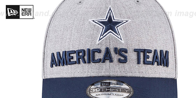 Cowboys '2018 ONSTAGE FLEX' Grey-Navy Hat by New Era