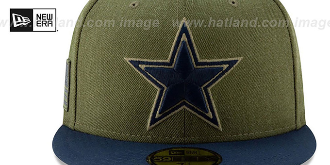 Cowboys '2018 SALUTE-TO-SERVICE' Olive-Navy Fitted Hat by New Era
