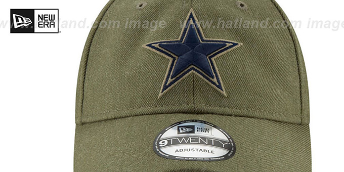 Cowboys '2018 SALUTE-TO-SERVICE STRAPBACK' Olive Hat by New Era