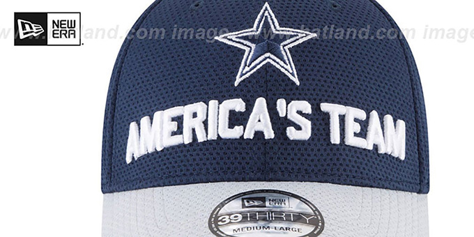 Cowboys '2018 SPOTLIGHT FLEX' Navy-Grey Hat by New Era