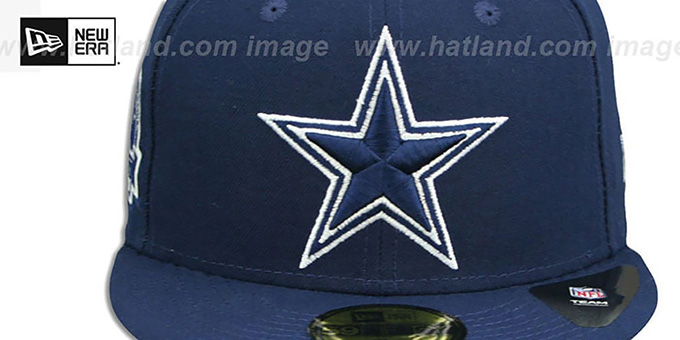 Cowboys 5X 'TITLES SIDE-PATCH' Navy Fitted Hat by New Era