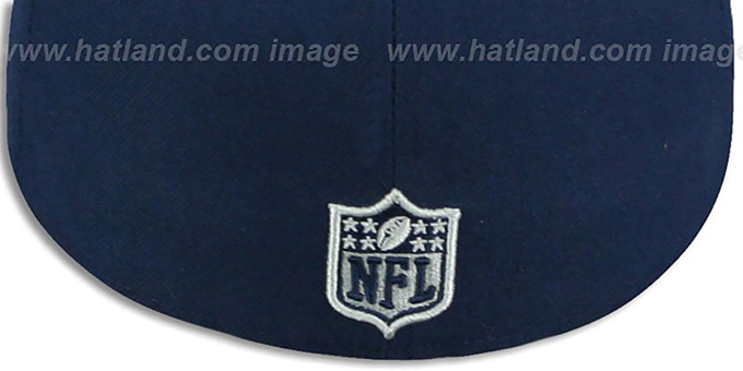 Cowboys 'BEVEL-PITCH' Navy Fitted Hat by New Era