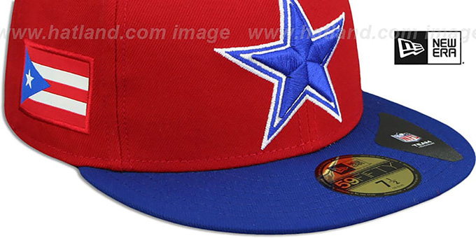 Cowboys 'COUNTRY COLORS' Red-Royal Fitted Hat by New Era
