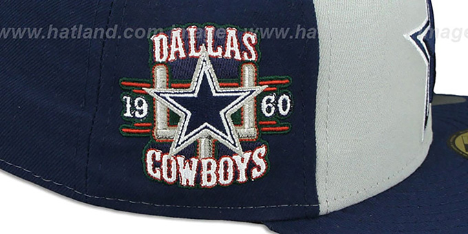 Cowboys 'CUSTOMIZER' Grey-Navy Fitted Hat by New Era