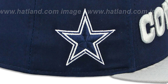Cowboys 'FLIP-UP A-FRAME STRAPBACK' Navy-Grey Hat by New Era