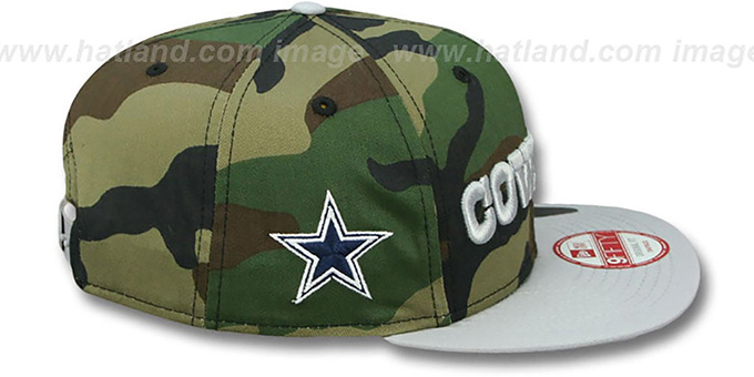 Cowboys 'FLIP-UP SNAPBACK' Army-Grey Hat by New Era