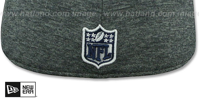 Cowboys 'TC HEATHER-HUGE' Grey-Black Fitted Hat by New Era