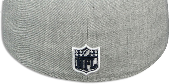 Cowboys 'HEATHER SLICE' Grey Fitted Hat by New Era