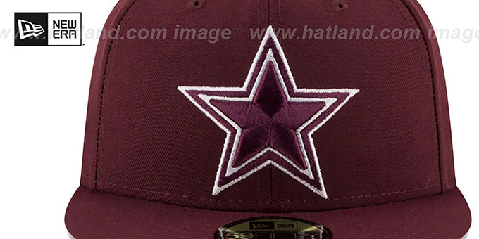 Cowboys 'LEAGUE BASIC' Maroon Fitted Hat by New Era