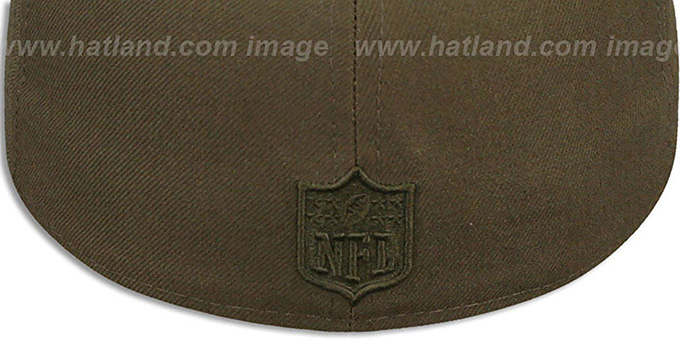 Cowboys 'LEAGUE BASIC TONAL' Brown Fitted Hat by New Era