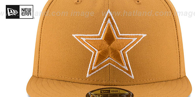 Cowboys 'LEAGUE BASIC' Wheat Fitted Hat by New Era