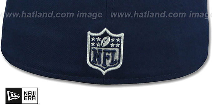 Cowboys 'LEATHER POP' Navy Fitted Hat by New Era