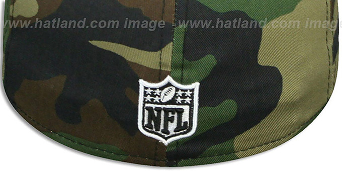 Cowboys 'LEATHER TAG' Army-Black Fitted Hat by New Era