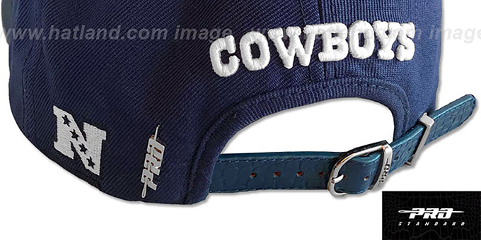 2de7d1b6889f1 ... Cowboys  METAL-BADGE STRAPBACK  Navy Hat by Pro Standard ...