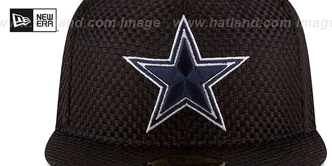 Cowboys 'MINI-CHECKED' Black Fitted Hat by New Era