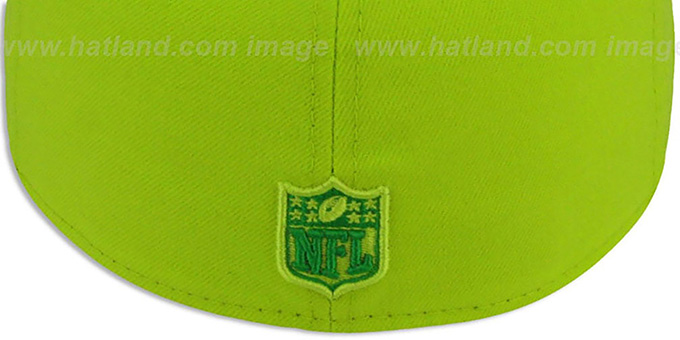 Cowboys 'NFL CYBER TONAL POP' LemonLime Fitted Hat by New Era