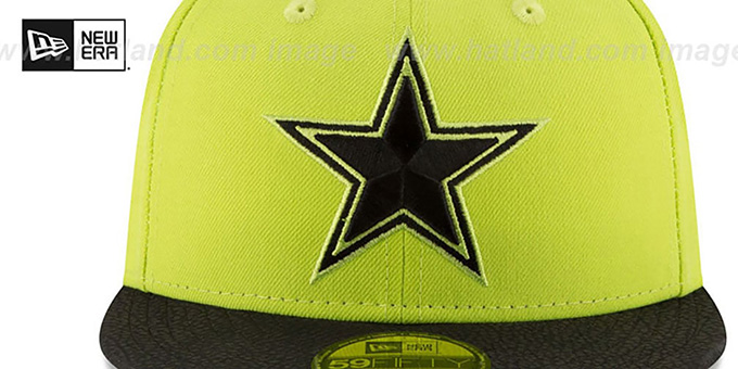 Cowboys 'RUGGED LEATHER' Yellow-Black Fitted Hat by New Era
