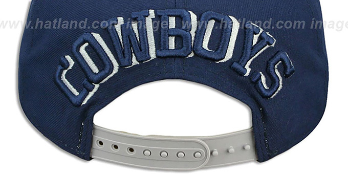 Cowboys 'SHADOW SLICE SNAPBACK' Navy-Grey Hat by New Era