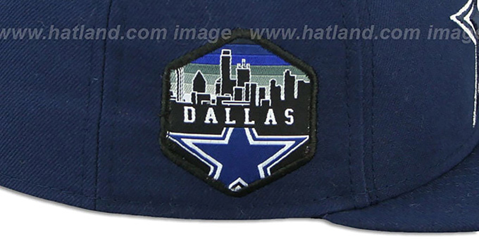 Cowboys 'SKYLINE-PATCH' Navy Fitted Hat by New Era