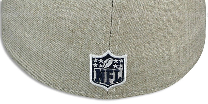 8f052c3228feb Dallas Cowboys STREAMLINER Oatmeal Fitted Hat by New Era