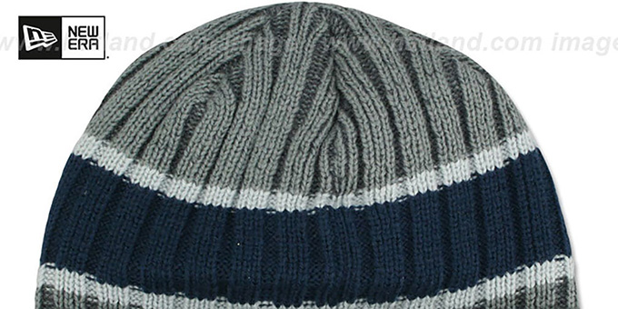 Cowboys 'STRIPE-CHILLER BEANIE' Grey-Navy by New Era