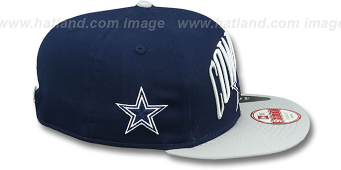 Cowboys 'TEAM LEAD SNAPBACK' Navy-Grey Hat by New Era