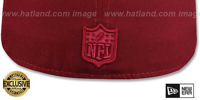 Cowboys 'TONAL-CHOICE' Burgundy Fitted Hat by New Era