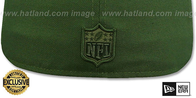 Cowboys 'TONAL-CHOICE' Rifle Green Fitted Hat by New Era