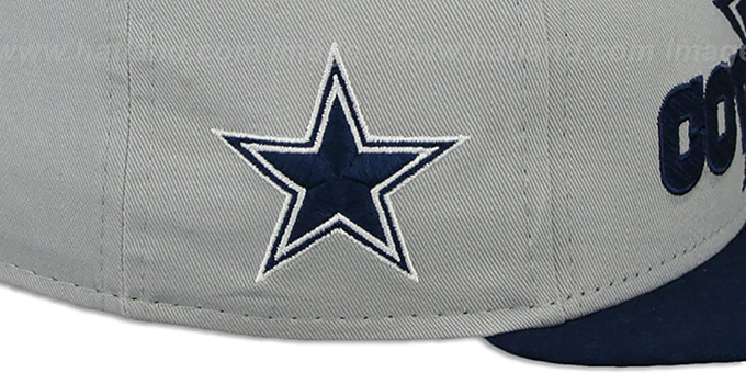 Cowboys 'TRACKSNAP SNAPBACK' Grey-Navy Hat by New Era