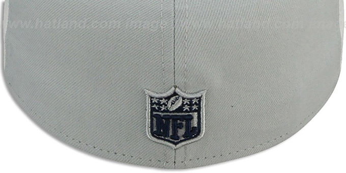 Cowboys 'TRI-PAN PINWHEEL' Navy-White-Grey Fitted Hat by New Era