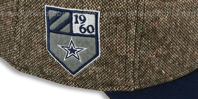 Cowboys 'TWEED CREST' Brown-Navy Fitted Hat by New Era